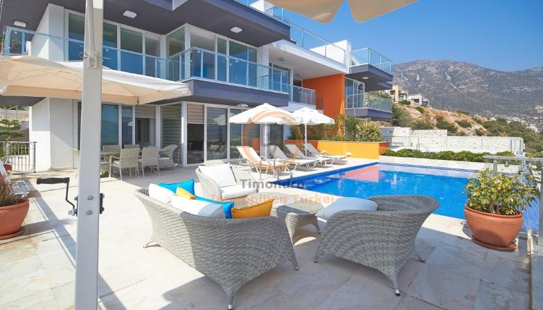 Sea view real estate near the beach with balcony in Kalkan