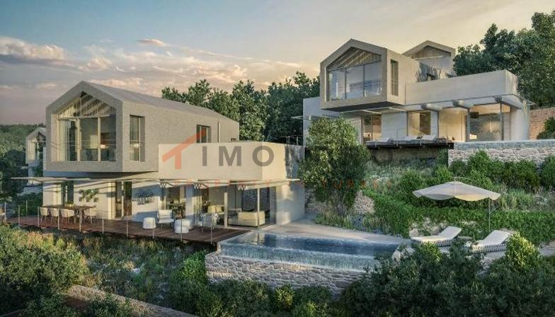 Sea view villa with terrace and pool in Kas Bayindir