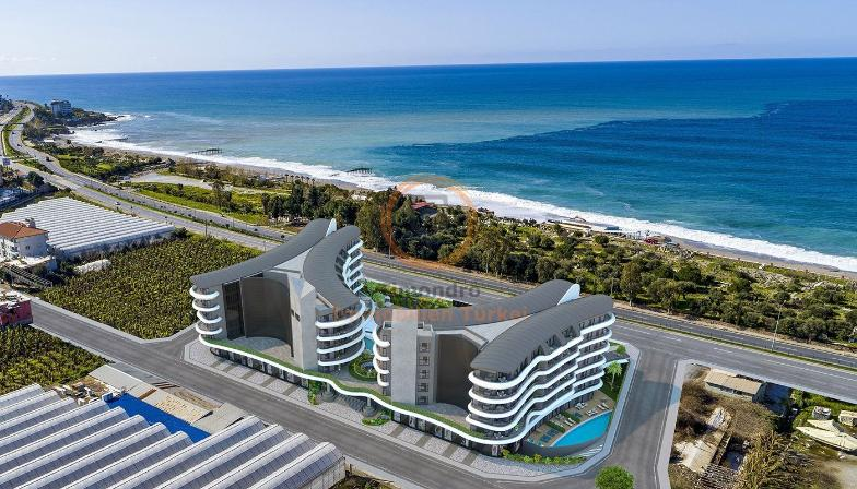 Sea view property (4 rooms, 2 bathrooms) near the beach with spa area in Alanya Kargicak