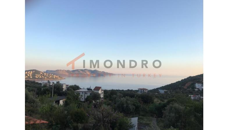 Sea view villa with terrace and open kitchen in Kas