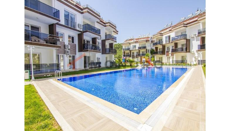 Distant view property with terrace and pool in Fethiye