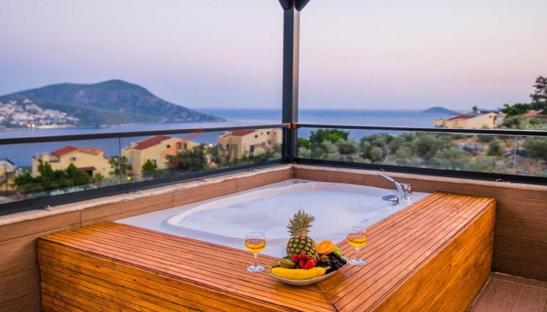 Sea view property near the beach with terrace in Kalkan