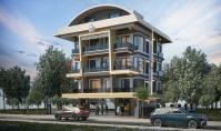 AL-470-2, Brand-new real estate (2 rooms, 1 bathroom) with terrace and pool in Alanya Oba