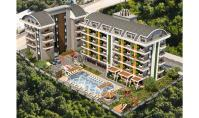 AL-493-1, New building apartment (2 rooms, 1 bathroom) with pool and balcony in Alanya Oba
