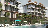 AL-496-3, New building property (2 rooms, 1 bathroom) with spa area and balcony in Alanya Oba