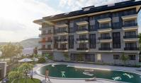 AL-514-2, Senior-friendly real estate (2 rooms, 1 bathroom) with pool and terrace in Alanya Oba