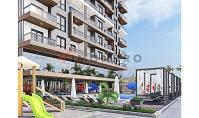 AL-526-2, Senior-friendly sea view real estate (2 rooms, 1 bathroom) with mountain view in Alanya Tosmur